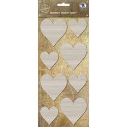 Bamus Sticker grau Herz