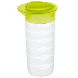 Rotho BASIC Shaker, 0.3 Liter, Shaker mit dicht verschliessbarem Deckel, Farbe: lime grün