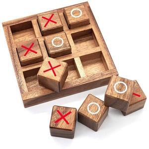 XO Spiel Holz Brettspiel Spielzeug Freudiges Lernspielzeug Für Kinder , Reisespiel Brettspiel Lernspielzeug Für Kinder Jeden Alters X Und O Reisespiel