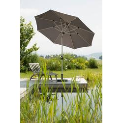Schneider Schirme Sonnenschirm Venedig, ohne Schirmständer grau Sonnenschirme -segel Garten, Terrasse Balkon