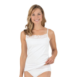 Trigema Unterhemd, mit Spitze weiß XXL