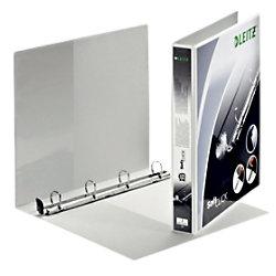 Leitz Präsentations-Ringbuch Pappe, Folie DIN A4+ 4 Ringe 20 mm Weiß