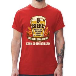 Shirtracer T-Shirt 8 Biere decken den Tagesbedarf an Vitamin C - Herren Premium T-Shirt S