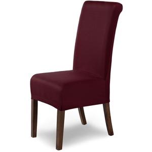 SCHEFFLER-Home Stretch Stuhlhusse Marie   elastische Stuhlabdeckung mit Fleckschutz   Stuhlhussen Schwingstühle   Spannbezug mit Gummiband   Elegante Stuhlbezüge