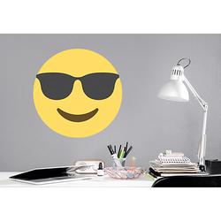 Wandtattoo Emoji Sonnenbrille, gelb