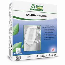 TANA green care ENERGY easytabs Geschirrreiniger-Tabs, 4 in 1 Geschirrspülmaschinen-Tabs gegen Ablagerungen und Glanz, 1 Packung = 80 Tabs