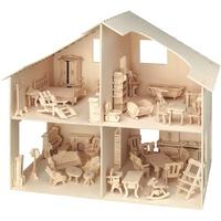 Pebaro Puppenhaus mit Möbeln (880)