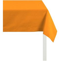 APELT Tischdecke 4362 Rips - UNI (1-tlg) orange quadratisch - 100 cm x 100 cm