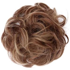 Rosennie Perrücke Haarteil Haargummi,Women's Curly Messy Hair Extensions Hairdressing Frauen Mädchen Haargummi Gummibänder Haarverdichtung Haarband Haarschmuck Brautfrisuren (C)