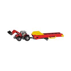 Siku Spielzeug-Auto Massey Ferguson Traktor mit Förderband