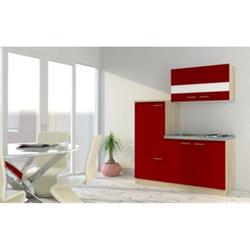 Respekta Economy Küchenzeile KB160ESR 160 cm, Rot mit Pantryauflage