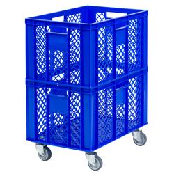 Fahrbarer Aufbewahrungskorb, 60 x 40 x 74 cm 60 cm, Kunststoff, 40 cm