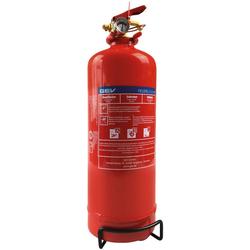 GEV Feuerlöscher Pulverlöscher, 2 Kg, für Haus, Auto und Camping rot