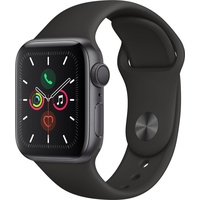 Apple Watch Series 5 GPS 40 mm Aluminiumgehäuse space grau, Sportarmband schwarz