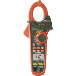 Extech EX623 Stromzange, Hand-Multimeter digital IR-Thermometer CAT III 600V Anzeige (Counts): 40000