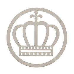 Lesezeichen auf Karte Krone