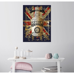 Posterlounge Wandbild, Flasche Whisky 60 cm x 80 cm