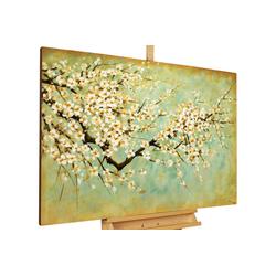 KUNSTLOFT Gemälde Kirschblüten, handgemaltes Bild auf Leinwand