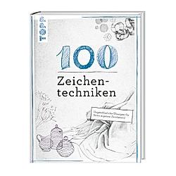 100 Zeichentechniken. Monika Reiter  Dieter Schlautmann  - Buch