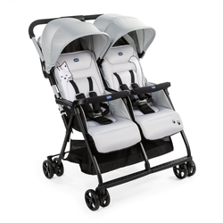 Chicco ZWILLINGSBUGGY OHLALA TWIN(3 Farben) Silver Cat