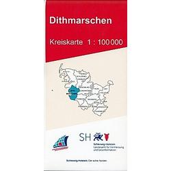 Dithmarschen Kreiskarte 1 : 100 000 - Buch