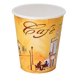 Kaffeebecher CoffeeToGo Pappbecher Design CAFE DE` PARIS  4oz 100 ml, 50 Stk.