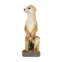 1PLUS Gartenfigur 1PLUS Erdmännchen mit Baby, aus Polyresin