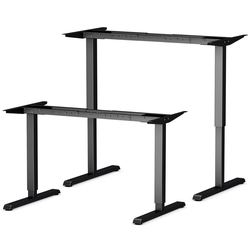 bümö Schreibtisch OM-670SL, Schreibtischgestell DIY elektrisch höhenverstellbar - Farbe: Schwarz schwarz