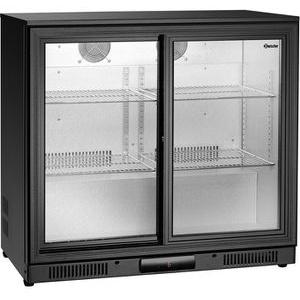 Bartscher Getränkekühlschrank 700122, 176 Liter, Barkühlschrank, schwarz