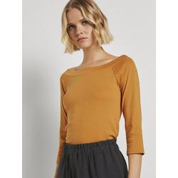 TOM TAILOR Denim Langarmshirt Schulterfreies Carmen Shirt orange L