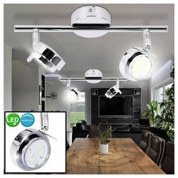 etc-shop Wandstrahler, 2er Set LED 10 Watt Wand Leuchte Beleuchtung Decken Spot Strahler Lampe Licht