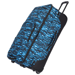 Travelite Basics 2-Rollen Reisetasche 78 cm blau druck