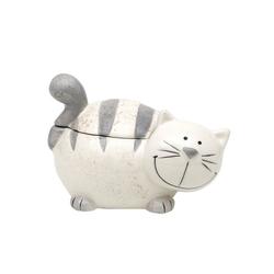 Dekohelden24 Zuckerdose Keramik Dose mit Deckel, als Katze., Keramik, (1-tlg)