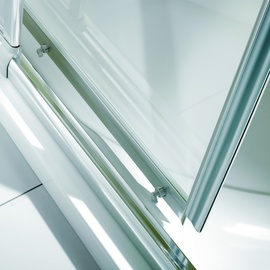 Breuer Fara 4 Eckeinstieg 80-90 x 80-90 x 185 cm Alu silber matt/Klarglas hell