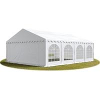 TOOLPORT Partyzelt 5x8 m Premium, hochwertige ca. 500g/m² PVC Plane in weiß wasserdicht Gartenzelt, Festzelt Pavillon