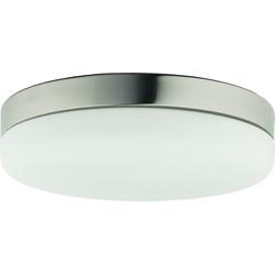 Licht-Erlebnisse Deckenleuchte KAGERA Deckenleuchte Badezimmer Glas Nickel Mann rund Decke Lampe