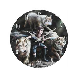 Anne Stokes Wanduhr Wanduhr Gothic Wölfe power of three