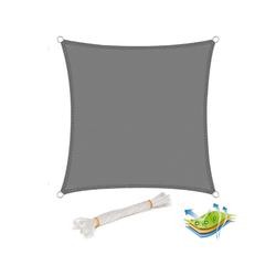 Woltu Sonnensegel, Sonnensegel Windschutz quadrat grau 500 cm x 500 cm