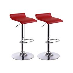 Woltu Barhocker, 2 x Barhocker Design Barstuhl Lounge Modell Celin rot