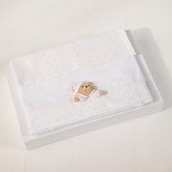 Puccio Set Bettwäsche Kinderwagen Pink–3stück