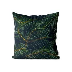 Kissenbezug, VOID (1 Stück), Tannenzweig Advent Winter Kissenbezug Tannenzweig Tanne Tannenbaum Pflanzen 80 cm x 80 cm