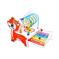 BeebeeRun Lernspielzeug Bunte Abacus Circle Lernspiele für Kleinkinder, mit Xylophon-Musikinstrumenten