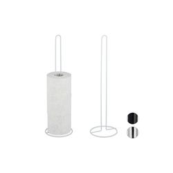 relaxdays Toiletten-Ersatzrollenhalter Ersatzrollenhalter 2er Set für Bad weiß