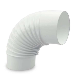 Ø 100 mm Ofenrohr Bogen gerippt 90° emailliert Weiß