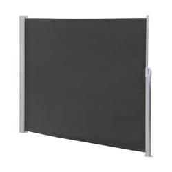 Mucola Seitenmarkise Seitenmarkise Balkonmarkise Markise Windschutz Seitenrollo Sichtschutzwand ausziehbar grau 180 cm