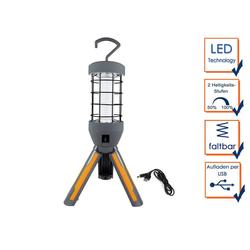 REV Strahler, Dimmbare LED Arbeitsleuchte, USB Arbeitslampe mit AKKU, Aufhängehaken, Handleuchte, Werkstattlampe