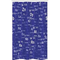 Abakuhaus Duschvorhang Badezimmer Deko Set aus Stoff mit Haken Breite 120 cm, Höhe 180 cm, Periodensystem Chemie Theme