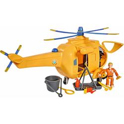SIMBA Spielzeug-Hubschrauber Feuerwehrmann Sam, Hubschrauber Wallaby II mit Figur und Sound