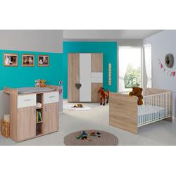 BMG Babyzimmer-Komplettset Maxim, (Set, 3-St), Bett + Wickelkommode + 4-trg. Schrank