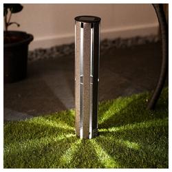 etc-shop Einbauleuchte, Solar Gartenlampe für Außen Solarleuchten für den Balkon Solarlampe Erdspieß, Fackel, LED Akku, DxH 7 x 46 cm